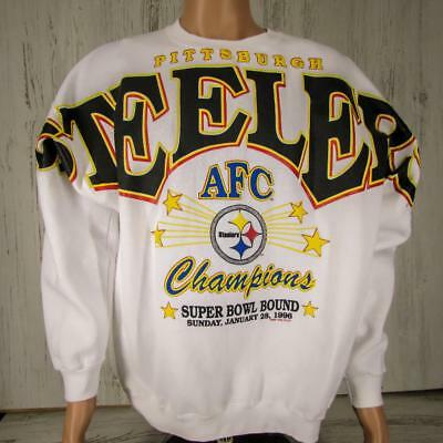 Vintage Pittsburgh Steelers 1996 AFC Champions Super Bowl Bound Sweatshirt  XL