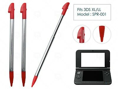 3 x Red Stylus for Nintendo 3DS XL/LL Plastic Stylus Replacement Parts Pen mod