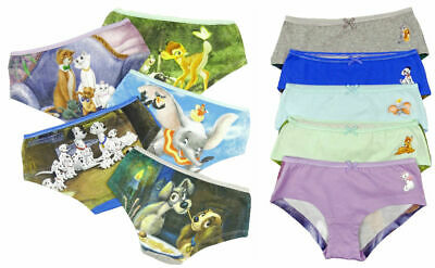 New Disney Girls Briefs Knickers Hipsters Bambi Dumbo Aristocats 3 To 16 Yrs