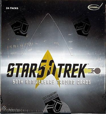 2 Factory Sealed Boxes of Star Trek 50th Anniversary trading cards