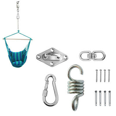Hyddnice Hammock Hook Swing Chair Hanging Spring Kit Stainless Steel Hammock Spring Hanging Mounting Hardware 600lb Capacity Heavy Duty Domeikavos Vila Lt