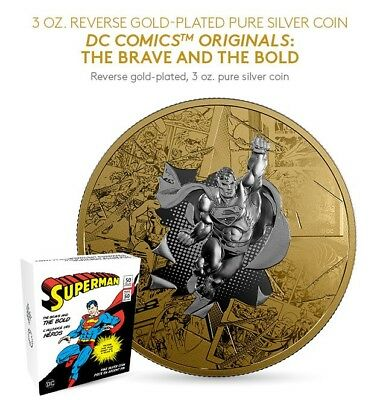 2017 Silver SUPERMAN THE BRAVE AND BOLD DC COMICS ORIGINALS Coin