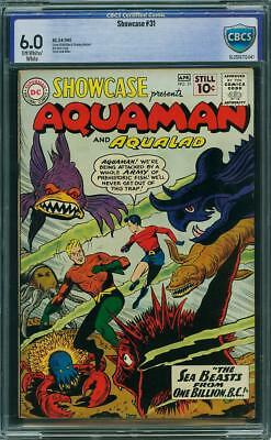 Showcase #31 Aquaman Aqualad CBCS (not CGC) Fine 6.0 2nd Tryout Off-White to WH