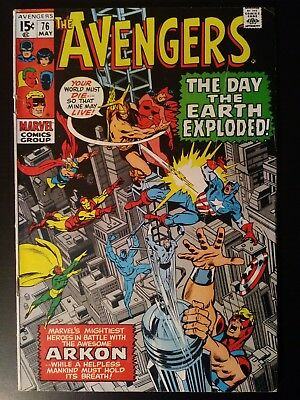 May 1970 Marvel Comics Avengers #76: Quicksilver & Scarlet Witch join Avengers