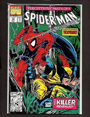 "SPIDER-MAN #12 Direct NM+ (Marvel,1990) "" PERCEPTIONS part 5 "" Todd McFarlane"