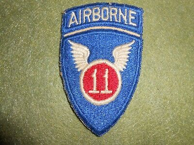WW2 11th Airborne Division Patch, used