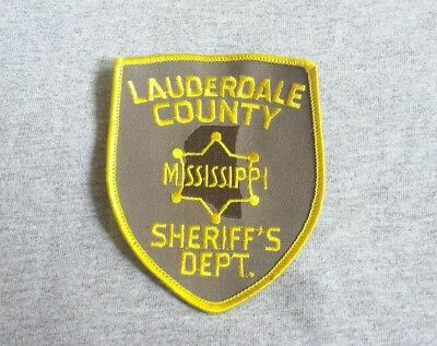 Lauderdale County Mississippi Sheriff Shoulder Patch