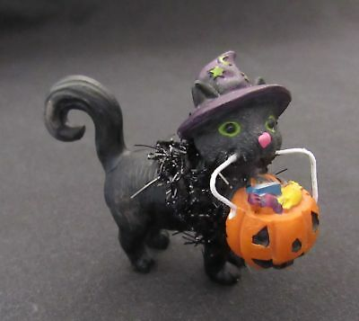 Halloween Kitty Dollhouse Miniature