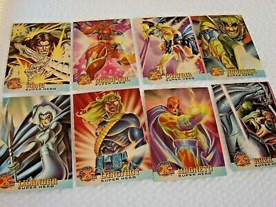 Fleer Ultra  X-Men Chromium Trading cards 1995 SUPER HEROES (set of 8)