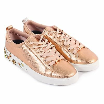 2308d566b074dd TED BAKER AILBE Leather Lace Up Trainer Blossom Harmony - £49.99 ...
