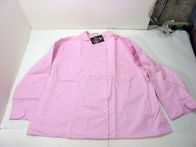 NWT - Dickies Bettina Women's 5XL Pink Chef Jacket Coat - 10 Button