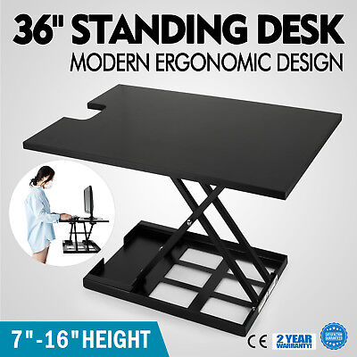 """36"""" X-Elite Table Lift Sit/Stand Standing Desk Steel Table Dual monitor HOT"""
