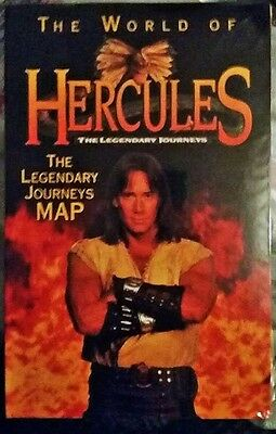 HERCULES** The LEGENDARY JOURNEYS**  WORLD MAP ** Kevin Sorbo.. SEALED & MINT!!