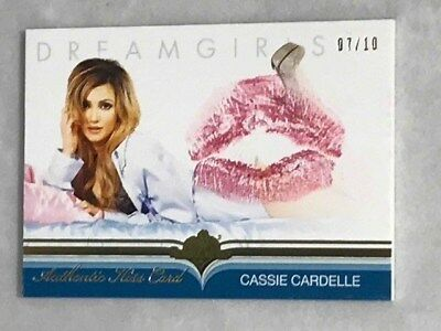2017 Cassie Cardelle Benchwarmer 7/10 Dreamgirls Authentic Gold Foil Kiss Card
