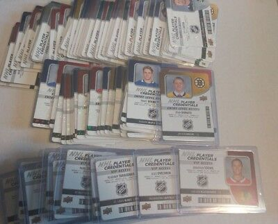 2018-19 UD MVP NHL Player Credentials Access Level 1, Entry, VIP UPick List Lot
