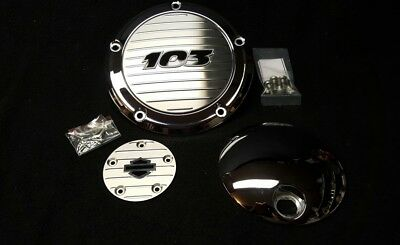 Genuine Harley 12-13 Touring Twin Cam Chrome 103 Derby Cover, timing cover