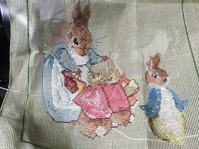 36cm square PETER RABBIT Unfinished Tapestry, canvas and wool included