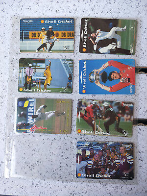 Cricket Phonecards mainly from New Zealand Collector Issues