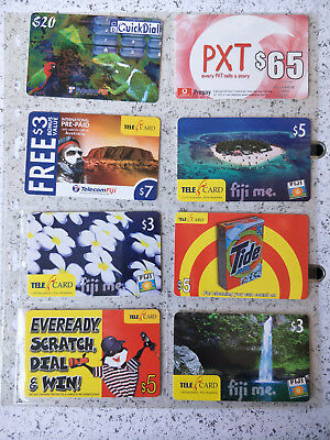 Fiji Phonecards  Mint Specimen/Sample Cards one perforated Void