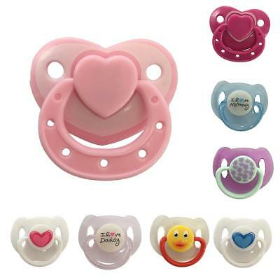 Cute Magnetic Pacifier Soother New Dummy For Reborn Baby Dolls Internal Magnet