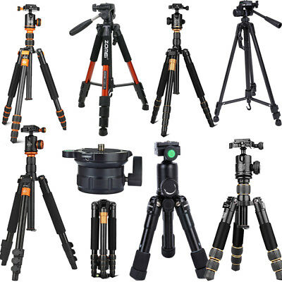 Professional Tripod Monopod+Ball Head/Pan Head Holder Fit SLR Camera Camcorder