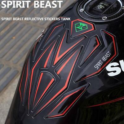 Reflective 3D Motorcycle Sticker Moto Fuel Tank Protector Pad Cover Decoration
