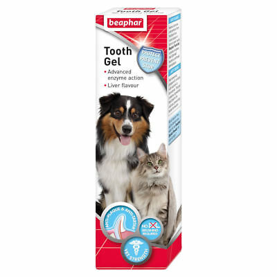 Beaphar Tooth Gel For Dogs Puppies Cats Kittens 100g No Brushing Required Liver