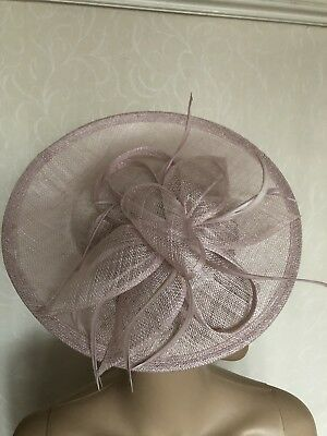Dusky Pink Feather Fascinator Hatinator Wedding Ladies Race Day Accessories  BNWT 8373e1e23ad