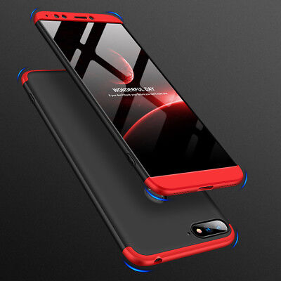 360 Full Protection Case Shockproof Cover For For Huawei Honor 7A/7C+Tempered