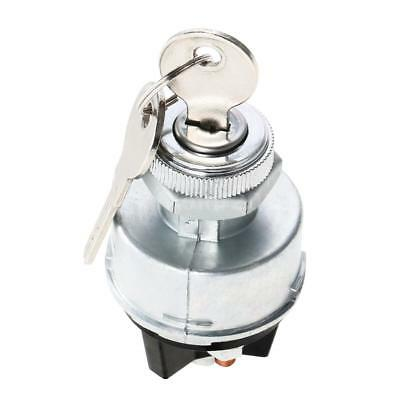 Silver Ignition Switch Barrel 2 Keys Universal For Car Tractor Trailer New I4P0