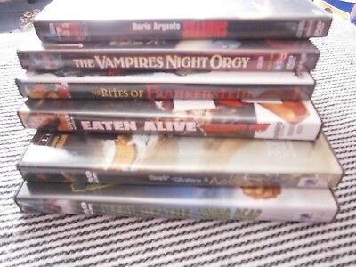 Selection Of Italian & Spanish Horror Dvds Cannibal . Zombies . Vampires.