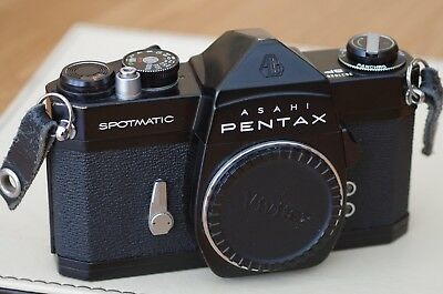 Asahi Pentax Spotmatic SP Black Body only in very good working order