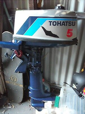 Tohatsu 5hp outboard boat motor with bracket mount