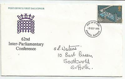 GB FDC 1975 62nd INTER-PARLIAMENTARY CONFERENCE