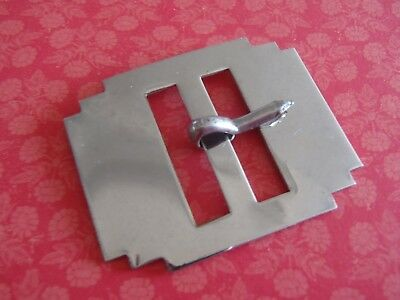 Vintage Deco Chrome Steel Buckle 42x34mm with 23mm bar womens accessories