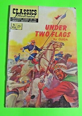 Classics Illustrated #86 Under two Flags Comics Golden Age (1951) C1985