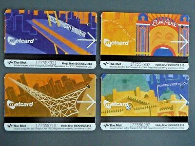 Melbourne Transport Metcard Tickets x 4