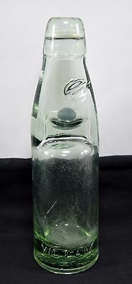 Antique White Green Clear Glass Soda Drink Bottle Home Décor Collectible. i31-72