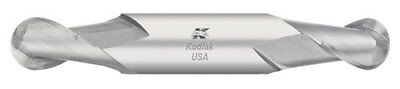 Kodiak 7/32 Dia Stub Ball Nose Double-End Carbide End Mill 2 Flute Made in USA