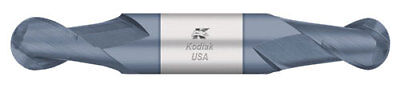 Kodiak USA 3/8 Dia Stub Ball Nose Double-End Carbide End Mill 2 Flute w/ALTiN