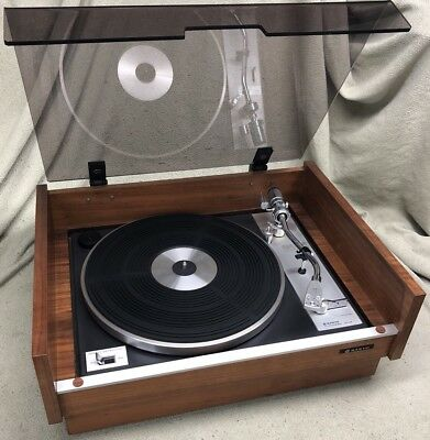 Vintage Sanyo Turntable Tp80S W/ New Belt Record Player Rare Beautiful Condition