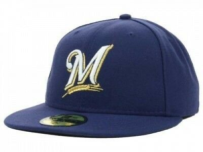 (7 1/8) - New Era Milwaukee Brewers MLB Authentic Collection 59FIFTY On Field