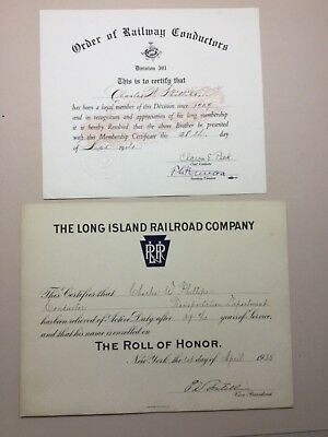 The Long Island Railroad Company Vintage Certificate