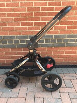 Genuine Mothercare Orb Black Chassis Pram Frame + Wheels Great Spare