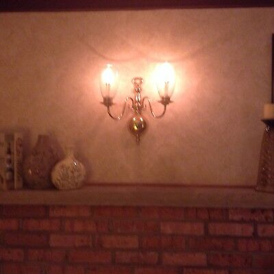 pair electric wall sconces