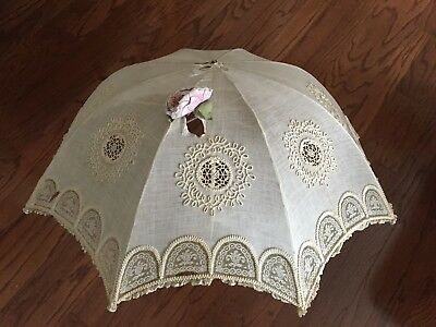 Vintage Victorian Edwardian Parasol Umbrella ~ Late 1800's - Early 1900's