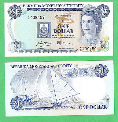 Bermuda 1 Dollar Note P-28b  1. Sept. 1979  UNCIRCULATED