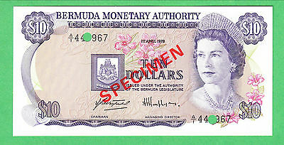 Bermuda 10 Dollar Note P-30s  UNCIRCULATED