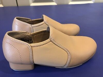 Theatricals - Girls - Tap Shoes  - Slip On - Tan Dance  Size 13 Great Condition