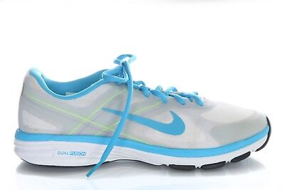 624c9f52f6a31a NIKE Training Sneakers Women s Size US 6.5 White Gray Turqouise Blue Dual  Fusion